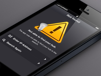 Philips Hue: Webapp - Hub 404 404 not found sign roadsign orange bulb webapp grey