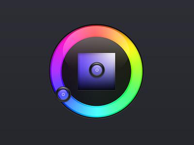Philips Hue: Webapp – Colorpicker Asset colorpicker hue philips colorwheel glass dark rainbow