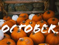 """October"" typography"