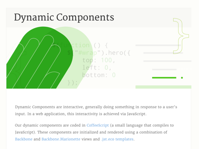 Dynamic Components web illustration styleguide