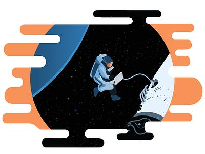 Explorations In Debugging svg vector astronaut spaceship explorations debugging