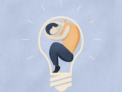 Stuck On Ideas idea photoshop digital editorial illustration illustration