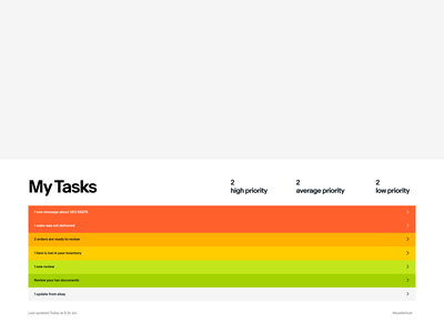 Task List Vignette vignette visual design rainbow list color block ui priority task list exploration color