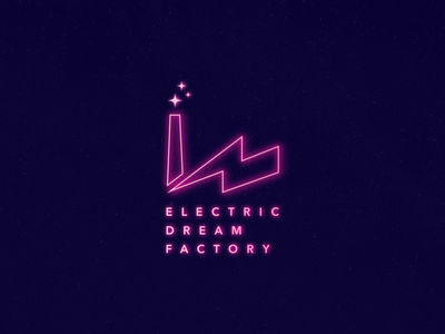 Electric Dream Factory Logo Design branding and identity graphic design logo design color branding logo
