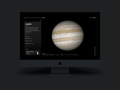 NASA 3D Exploration Tool navigation control ui web visual design ui tool 3d space dark ui nasa