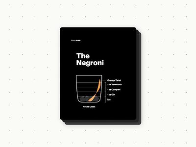 Negroni blueprint bartender bar graphic design visual design ux branding design