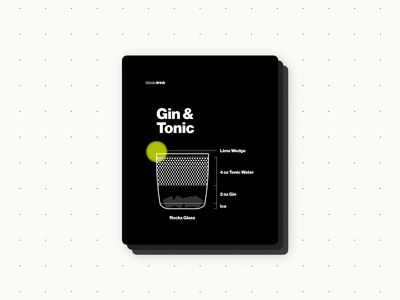 Gin & Tonic vector branding design graphic design blueprint bartender ux visual design