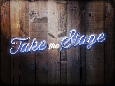 Take the Stage neon roadhouse country western bar sign stage