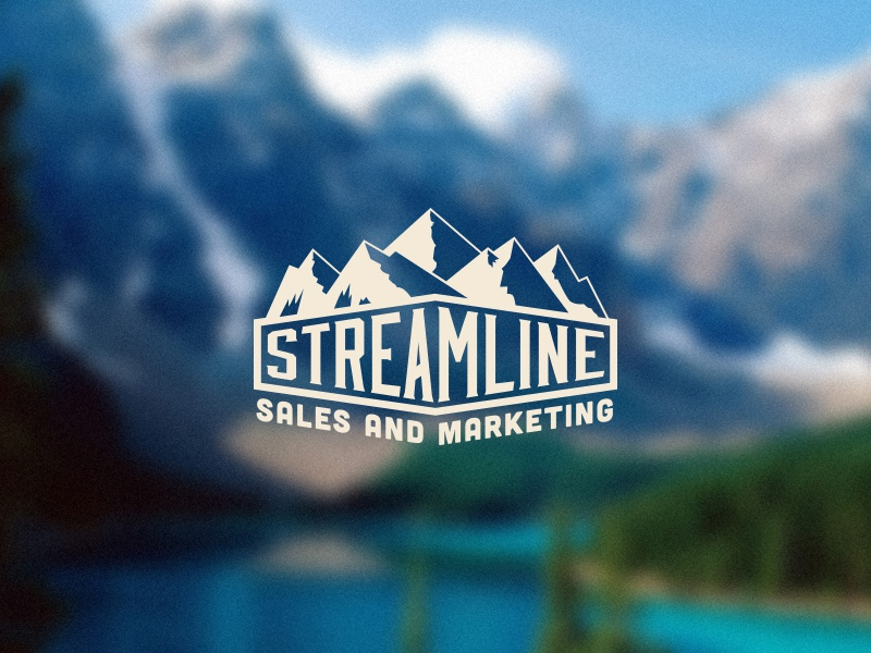 Streamline Sales & Marketing Logo rockies streamline sales marketing logo mountains snow colorado