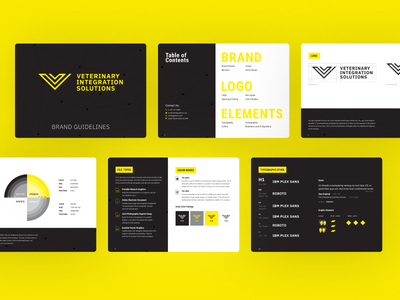VIS Brandbook colors brandguidelines tableofcontents elements logo figma blackbook digitalbook web webdesign graphicdesign brandbook integration vet guidelines branding ui commerce yellow