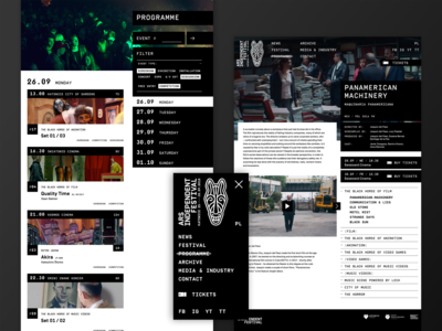 Ars Independent Festival website