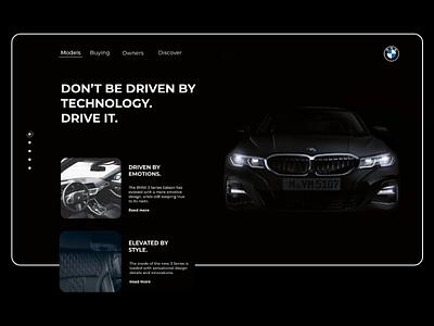 Landing page concept for BMW bmw car landing page landingpage website minimal app web ui ux design