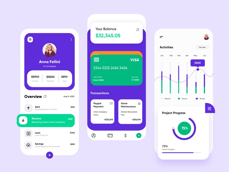 Finance mobile app app @business @product @financial @apps @banking @clean @uxdesign @uidesign @style @application @interface @user experience @minimalistic @transactions @uiux design @appdesign @mobile @design @fintech