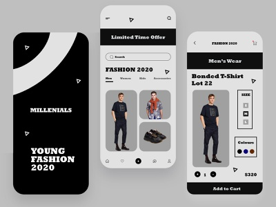 Mobile e-commerce app @minimal @uxdesign @fashion @e-commerce @store @shop @ecommerce @dailyui @ui @brutal @clean @interface @application @user experience @business @uiux design @style @product @design @apps