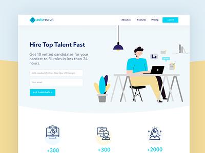 WIP Landing Page industry website landingpage recruit