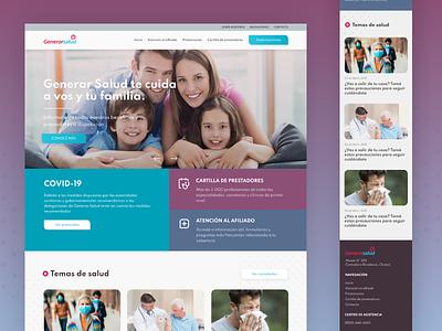 Generar Salud Website website medical care medical