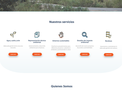 Our services section eco icons