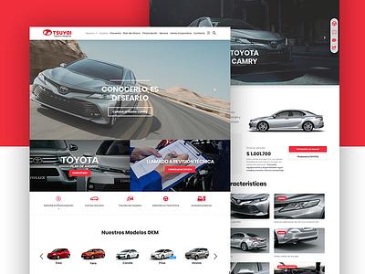 Website of TOYOTA dealer website toyota