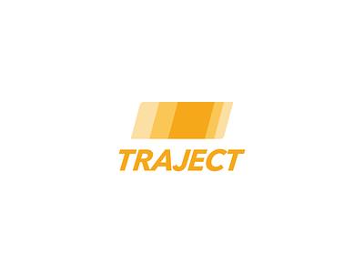 Traject shipping company (Frontify Rebound) shipping minimal illustrator vector typography design logo branding flat faux brand