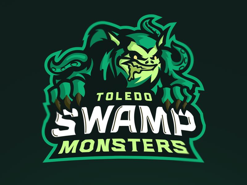 Toledo Swamp Monsters Mascot Logo