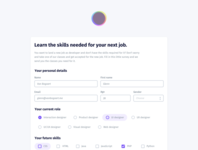 Survey form interface design purple gray free code camp form survey