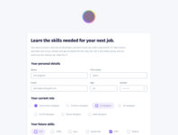 Free Code Camp survey purple interfacedesign interface grey gray free code camp form