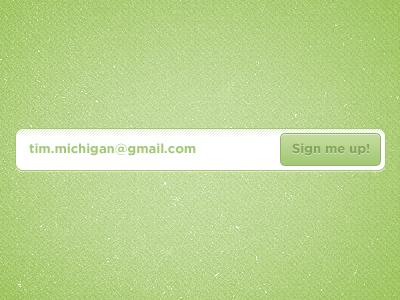 Cool Green Signup form cool green signup form signup form