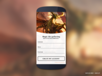 DailyUI #001: Magic the Gathering - sign-up