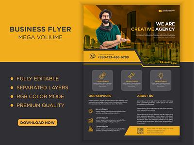 Business Flyer landing page uiux shots dribble freepik trendy professional corporate business borchure flyer