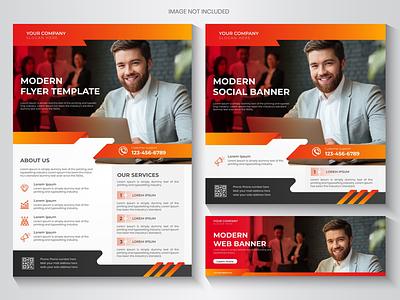 Flyer Social media bannner set colorful shot dribbble trending graphicdesign web banner bra ding brandingdesign brochure flyer banner