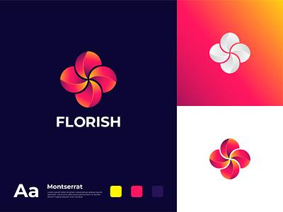 Florish logo nhdgraphic freepik brandidentity marketing photoshop graphic logodesigns illustration brand logos graphicdesigner designer logodesign logodesigner art branding graphicdesign design logo
