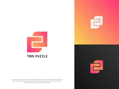 Puzzle modern logo logotype logodesign vector graphicdesign colorful design logo branding banner graphic design dribbble trendy