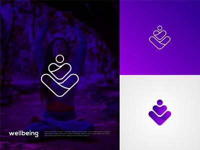 Fantasy Yoga logo top trendy logo wellbeing minimal logo creative logo colorful shots dribbble trendy modern logo graphicdesign exercise yoga logo logodesign yoga style meditation yoga