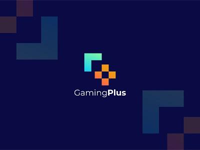 GamingPlus logo gaming logo plus gaming logotypedesign logotype gaminglogo new shot logodesign colorful design logo branding banner graphic design dribbble trendy