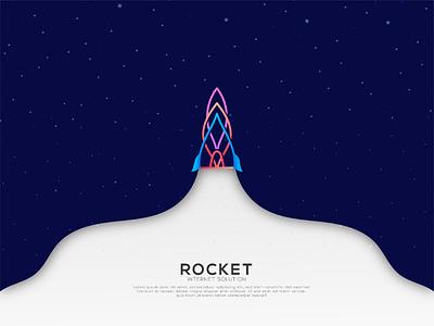 Rocket logo logo modified lineart modernlogo trendy colorful ux uidesign graphic design identity branding logoinspiration rocket logo logotype logodesign