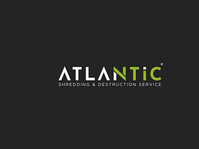 IT service Logo logo design branding vector logotype green and black logo modern logo it service atlantic minimal logo brandidentity branding it logo