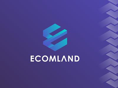 Ecomland web conference logo minimal logo icon design e icon e letter logo minilalist logo branding colorful ui logo modern logo ecommerce logo logo design