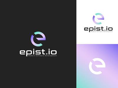 Software development logo (letter E) colorful logo minimal logo logo design branding e technology logo initial e letter logo gradient logo modern logo logo technology
