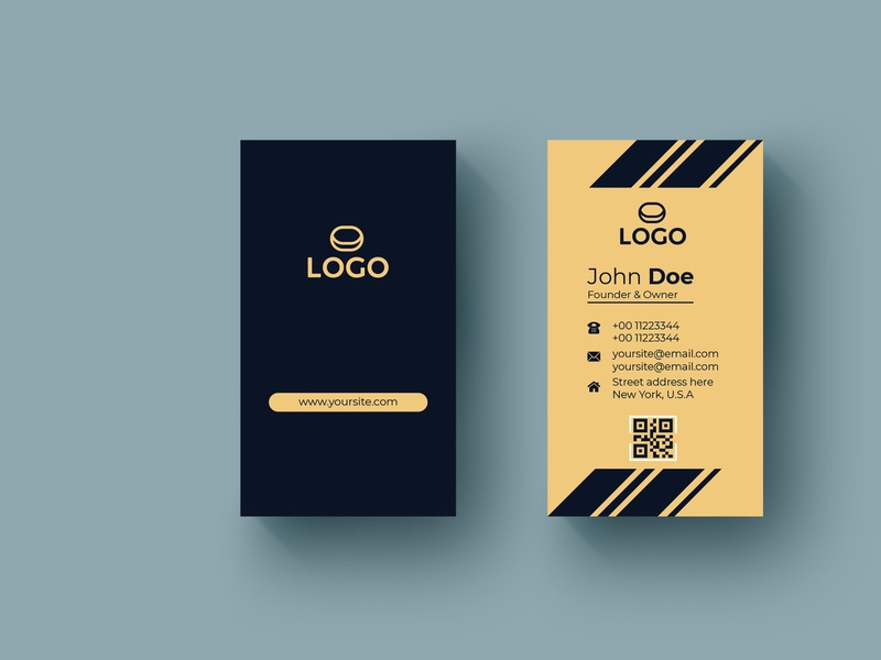 Personal Vertical Corporate Business Card presonal identity branding brand personal card visiting card print business card business