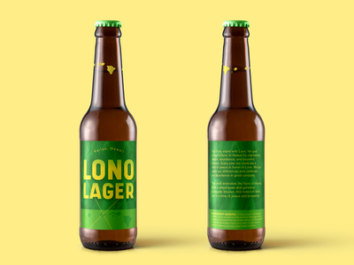 Lono Lager 2.0 art typography beer label design graphic design design international beer day