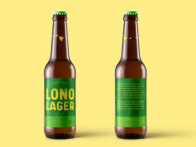 Lono Lager 2.0 art typography beer label design graphic design design international beer day