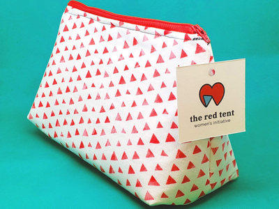 The Red Tent icon women helping women branding logo nonprofit graphic design