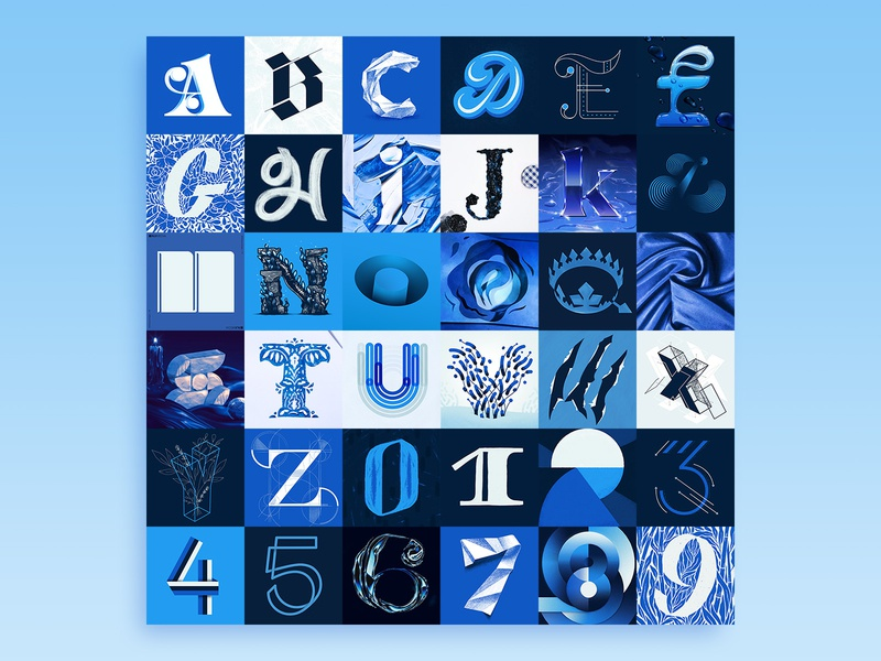 ALL type numbers letters blue alphabet 36 days of type 2020 36daysoftype2020 36 days of type 07 36daysoftype07 36 days of type 36daysoftype 36 days all 36daysall