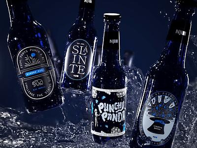 Punch, Wit & Beer beer label beer bottles beer bottle luck o the irish 3d rendering 3d render 3d 3d beer beer design saint patty st patrick st patricks st patricks day beer st patricks day saint patricks day beer