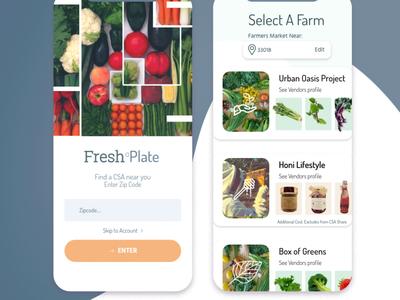 FreshPlate AndreaSaavedra farmer food food app mobile app mobile ui mobile farmers market ui dailyui