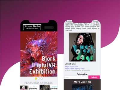 Vibrant Media ux magazine design editorial artdirection art branding design ui dailyui