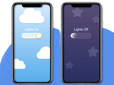 On & Off Switch dailyuichallenge night light switch dailuui15 app design ui dailyui