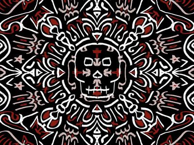 Skull Mandala mandala procreate
