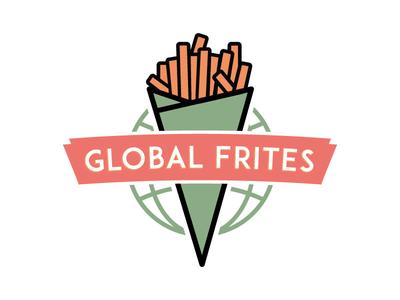 Globel Frites design logo
