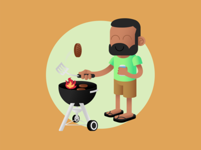 Grilling is Great burgers cookout grill summer illustration